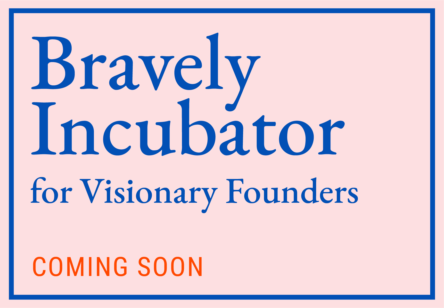 Bravely Incubator for Visionary Founders